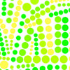 Social Circles Green Yellow Cellophane Roll 24 x 100