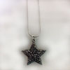 Sparkling Charcoal Star Necklace