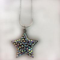 Sparkling Iridescent Star Necklace