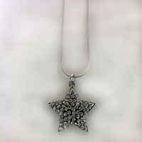 Sparkling Silver Star Necklace