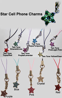 Cell Phone Star Charms
