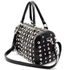 14 x 8.6 inch Black Studded Purse