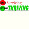 30 Stickers Stop Surviving Start Thriving