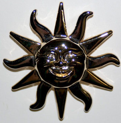 large sunshine pin