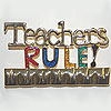 teachers rule pin