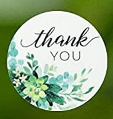Stickers - Thank You Aqua Bloom
