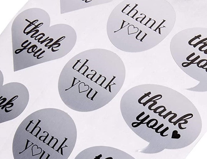 Thank you stickers variety pack
