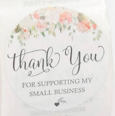 Stickers - Thank You - Business Support - Summer Flowers