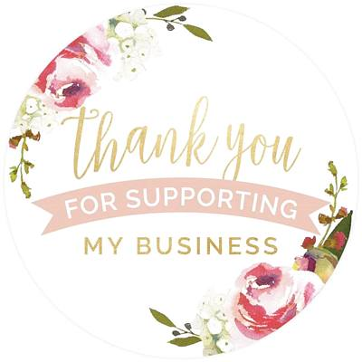 Thank you Business Support Flowers  stickers
