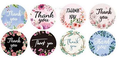 Thank you stickers Flowers Variety Pack
