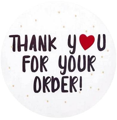 Thanks you for your order stickers