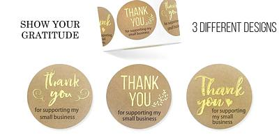 Thank you Business Support stickers