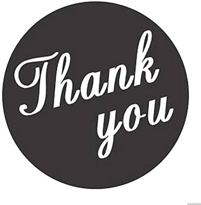 Thank you B/W Script stickers