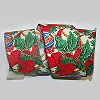 Holiday Ornaments and Bows Fabric Ribbon 2.5 inch
