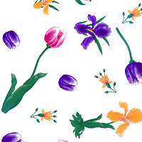 Tulips and Iris's Cellophane Roll 30 x 100