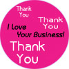 .63 Stickers I Love Your Business!  Thank You