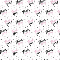 Thank You Pink and Black 3 x 7.5 inch Cellophane Bags