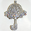 umbrella rhinestone pin