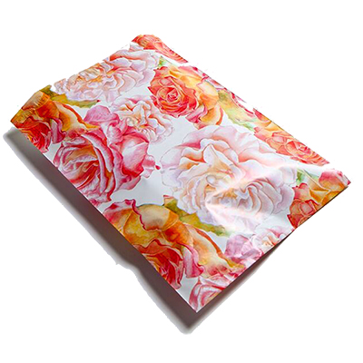 Watercolor Roses Poly Mailers 10x13