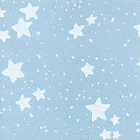 White Chunky Stars Cello Roll 24 x 50