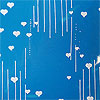 Raining White Hearts Cellophane Roll 21 x 100