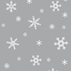 Silver Mylar with White Snowflakes Cellophane Roll 30 x 100