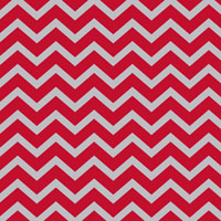 Red Chevron 6 x 13 inch Cellophane Bags