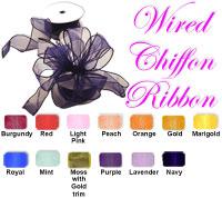 """Classic Chiffon Wired Ribbon 1.5"""" wide"""