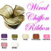 "Classic Chiffon Wired Ribbon 2.5"" wide"