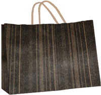 16 x 13 inch Black Brown Woodgrain Gift Bag