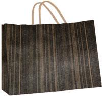 16 x 13 inch Black Brown Woodgrain Gift Bag