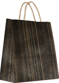 16 x 19 Black Brown Woodgrain Gift Bag