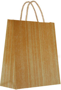 16 x 19 Light Woodgrain Gift Bag
