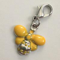 Yellow Bee Charm
