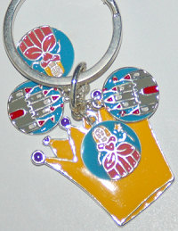 Yellow Crown Keychain