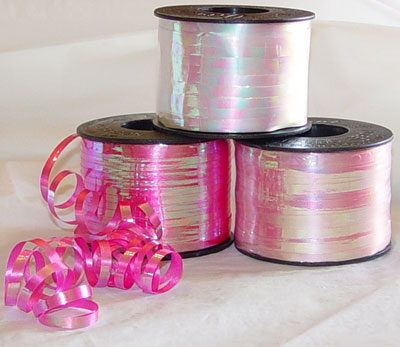 Curling Iridescent Ribbon