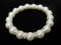 Pearl and Crystal Stretch Bracelet