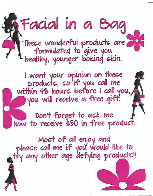 Facial in a Bag Cards